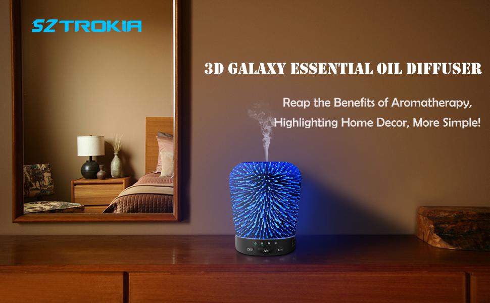 Sztrokia 180ML 3D Galaxy Oil Diffuser
