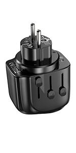 SL203 european plug adapter