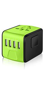 green travel adaper