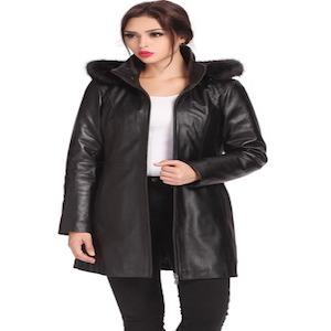 Short regular Coat amp; Women's Leather Bgsd Plus Parka Irene Lambskin wBq7P67