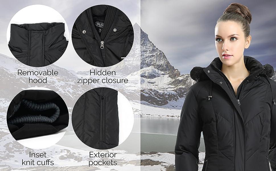 BGSD Women's Coat Features