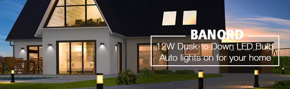Banord Light sensor led bulb light your home DAYLIGHT