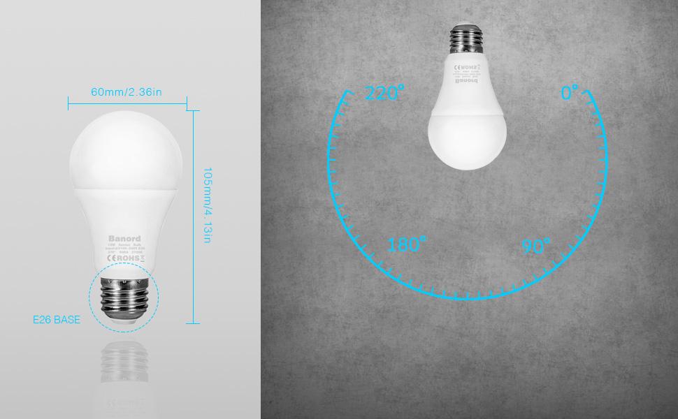 A19 LED Light sensor bulb-Banord-Daylight