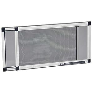 antimosquitos Cortina autoadhesiva de malla para ventanas cinta adhesiva para varias puertas de ventanas montaje en garaje con ganchos Blanco