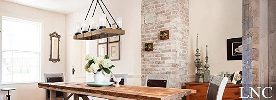 Lnc wood chandeliers for kitchen island dining room living room lnc wood chandeliers kitchen island chandelier lighting 8 light pendant lights mozeypictures Image collections
