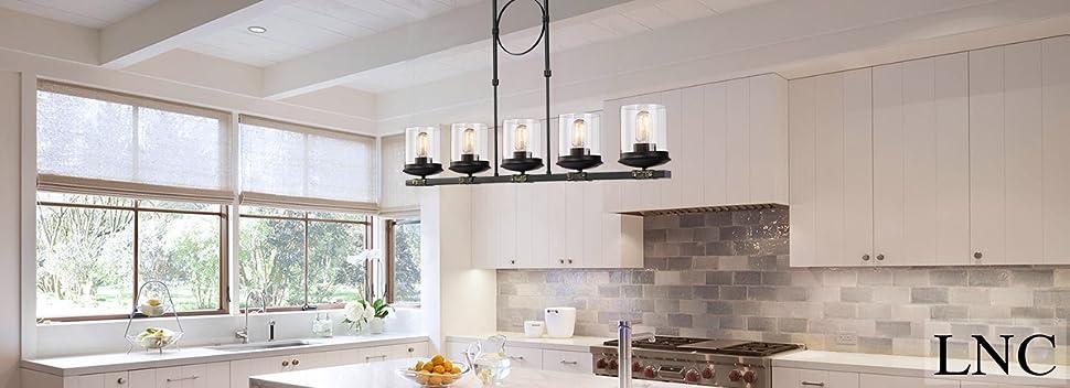 ceiling creative lighting design on cool kitchen