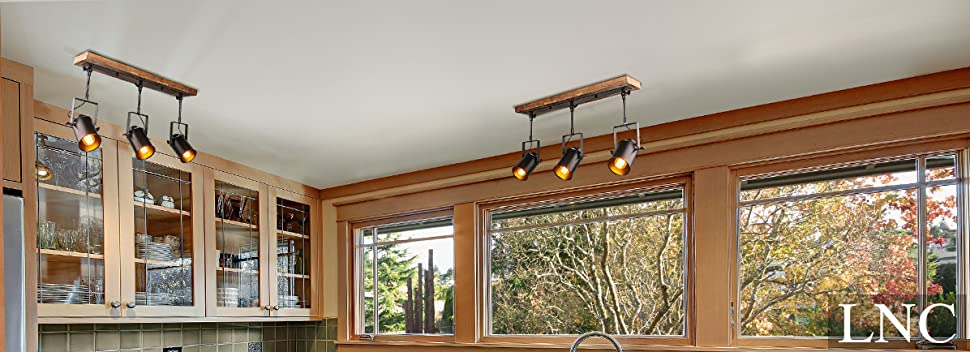 home track lighting. LNC Wood Close To Ceiling Track Lighting Spotlights 3-Light Lights Home
