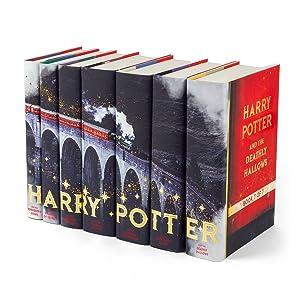 Juniper Books 7 Volume Harry Potter Book Set in Custom Dust Jackets - Hogwarts Express Edition