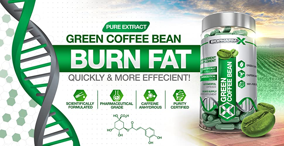 Amazon Com Biopharm X Green Coffee Bean Extract Diet Pills