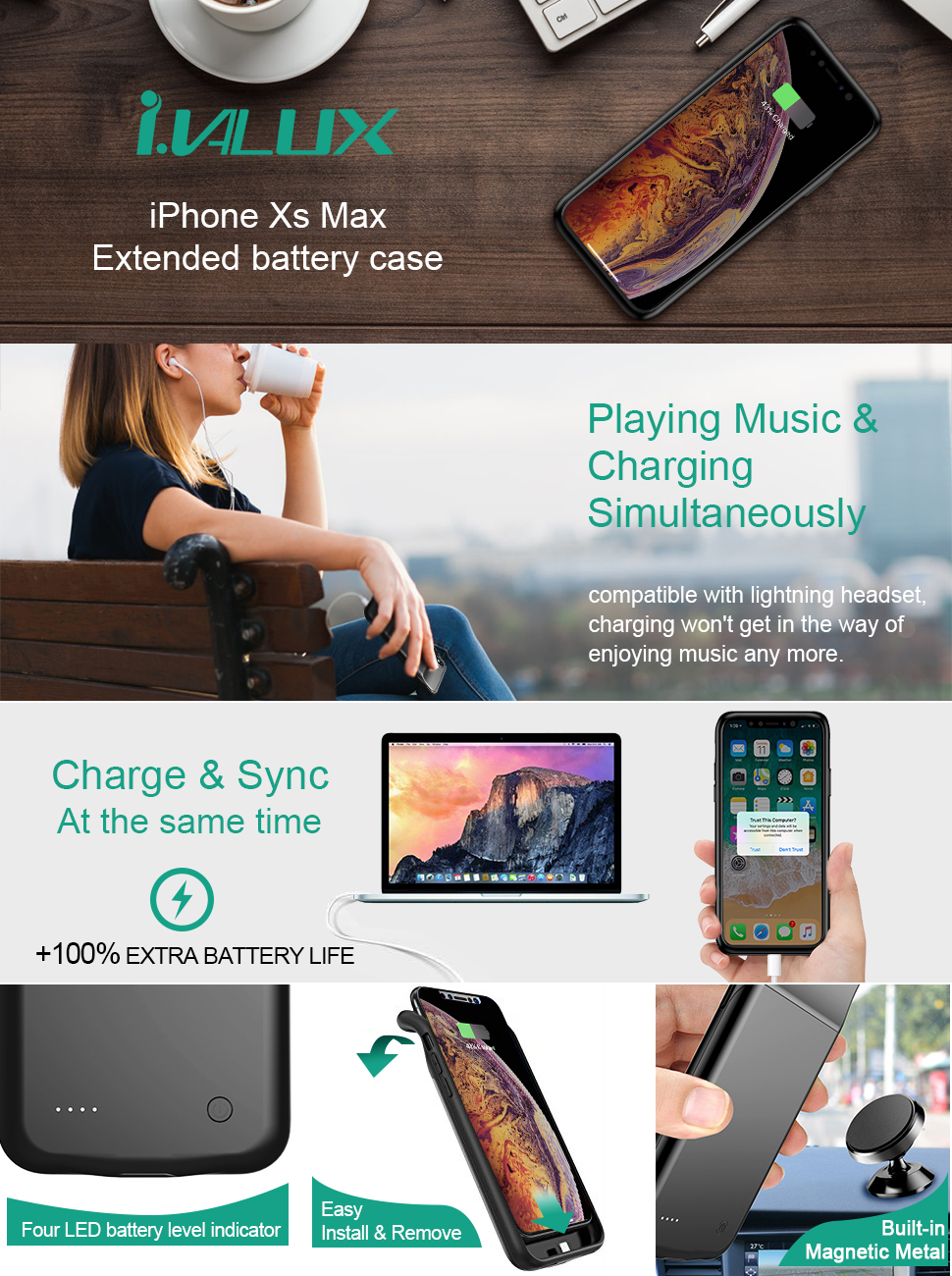 iphone xs max battery case charging case charger case