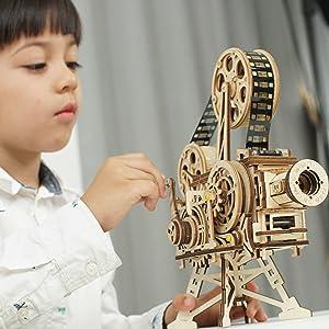3D Wooden Puzzle Brain Teaser Craft Toy