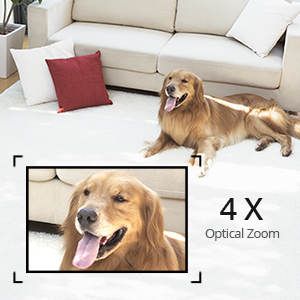 4X Opitcal Zoom