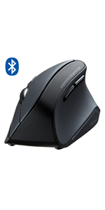 Compatible with The Razer Blade Pro Gaming Laptop DURAGADGET Wired Left-Handed Ergonomic Vertical USB Mouse with Browser Buttons Black