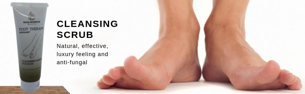 Gold mountain beauty, scrub, feet, foot, feet care, athletes foot, spa product, natural, organic