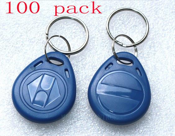 EM4100 100pcs 125KHz RFID ID Proximity Tag Token Keyfobs For Door Access control