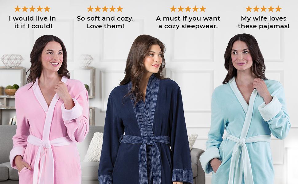 soft fleece robes for women