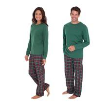 matching christmas flannel pajamas