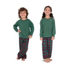 matching Christmas pajamas for boys and girls flannel