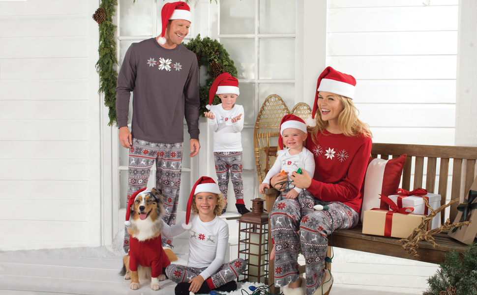 485b967412 PajamaGram Family Christmas Pajamas Set - Soft Cotton Family Pajamas ...