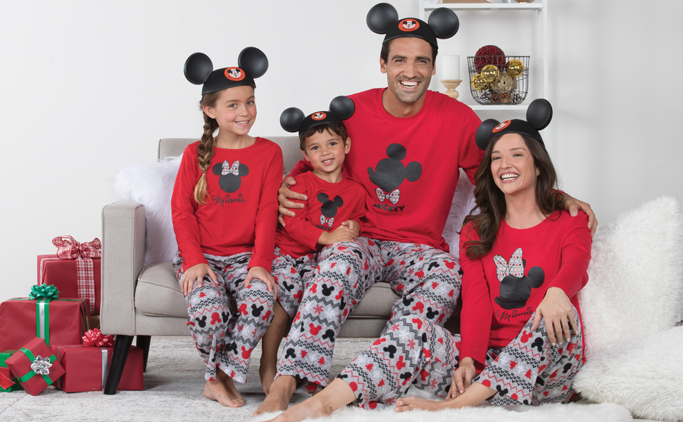 2cdd99f9d0 PajamaGram Matching Pajamas for Family - Mickey Mouse and Minnie Mouse  Pajamas GFS016039