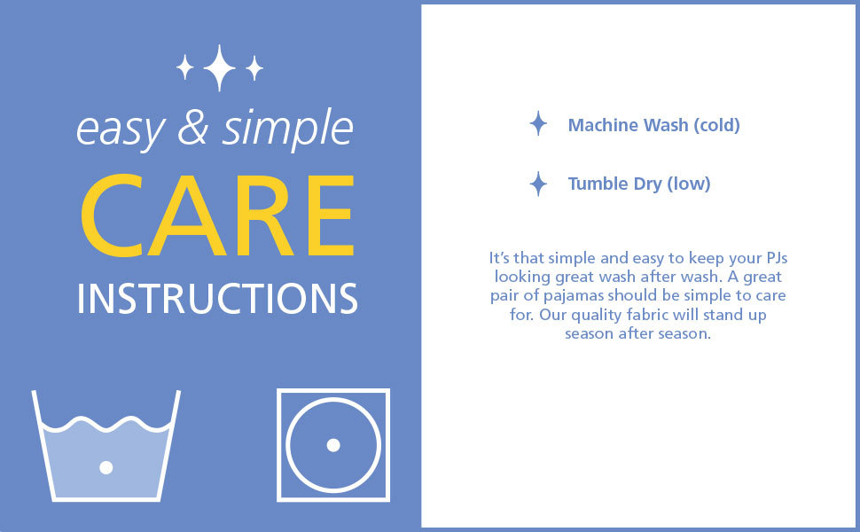 easy and simple care instructions