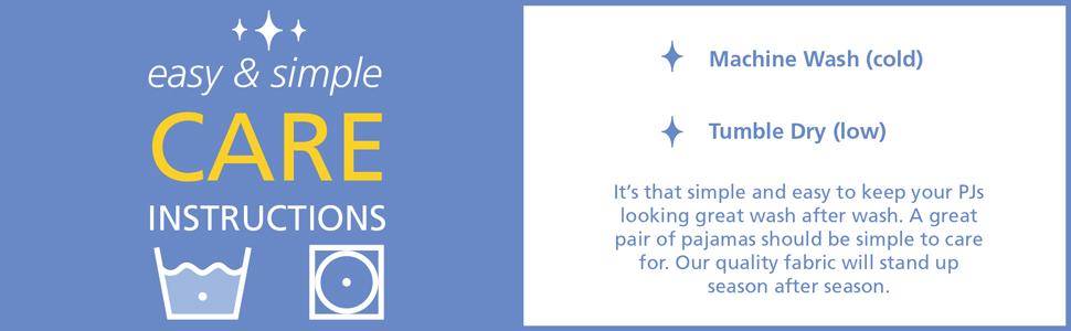 easy care pajamas