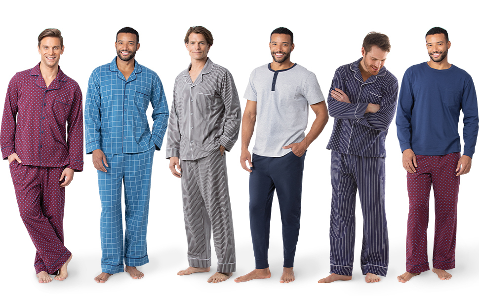 cozy fresh new release good PajamaGram Classic Mens Pajamas Cotton - Men Pajamas Set