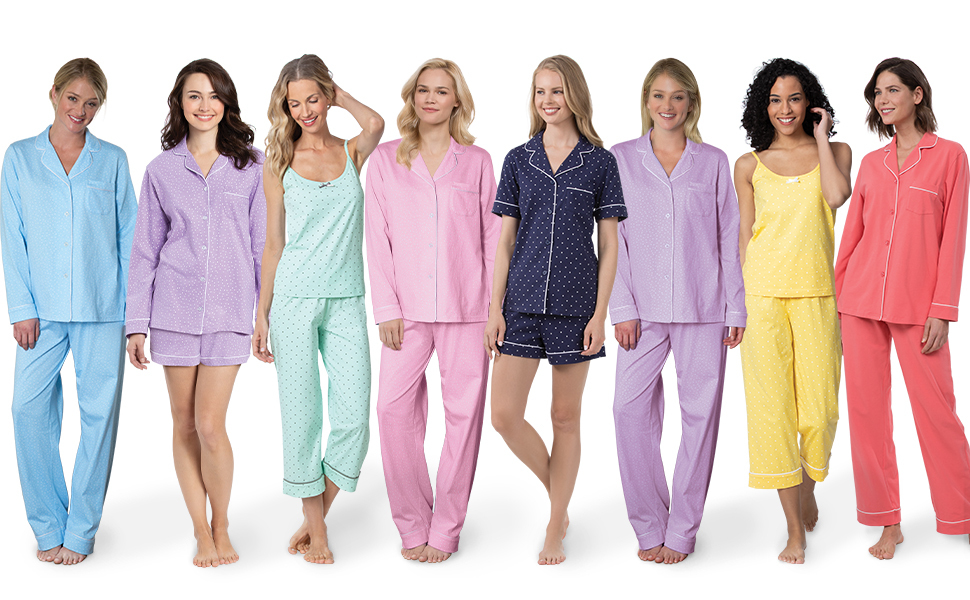 fc5373985ff ine up of female models standing up wearing our popular premium women s  pajamas
