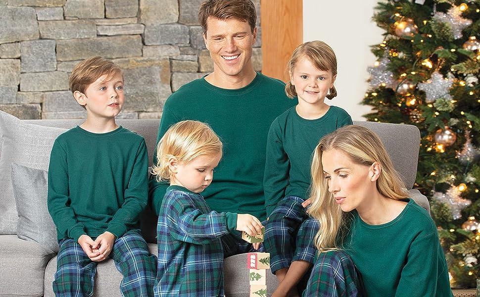 f975869d03 PajamaGram Family Christmas Pajamas Set - Cotton Flannel, Plaid Fast ...
