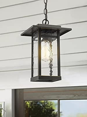 Outdoor Wall Light Fixture Beionxii 1-Light Exterior Wall Lantern Sconce Oil Rubbed Bronze Glass