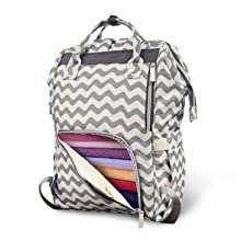 Pipi bear Chevron Diaper Bag Backpack for Baby Care