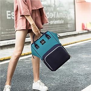 Diaper Bag Backpack, Pipi bear Waterproof Diaper Backpack for Baby Care