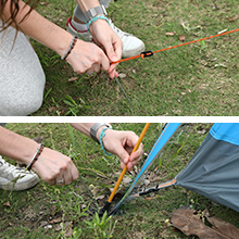 2-3 person instant tent stakes guy ropes