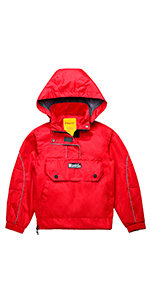 dd3d76e00 Amazon.com  Wantdo Boys Girls Fleece Hooded Jacket Waterproof ...