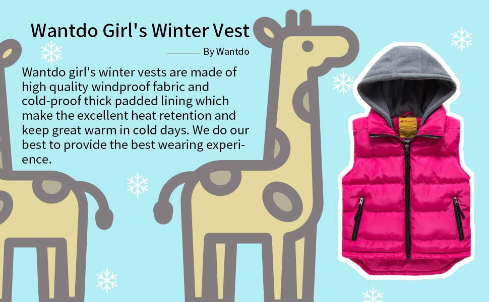 wantdo girls winter vest