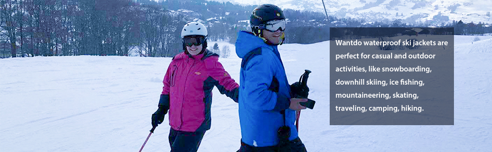 474a3ddd6652 Amazon.com  Wantdo Women s Hooded Skiing Jacket Mountaineering ...