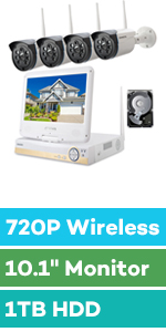wireless security camera with monitor