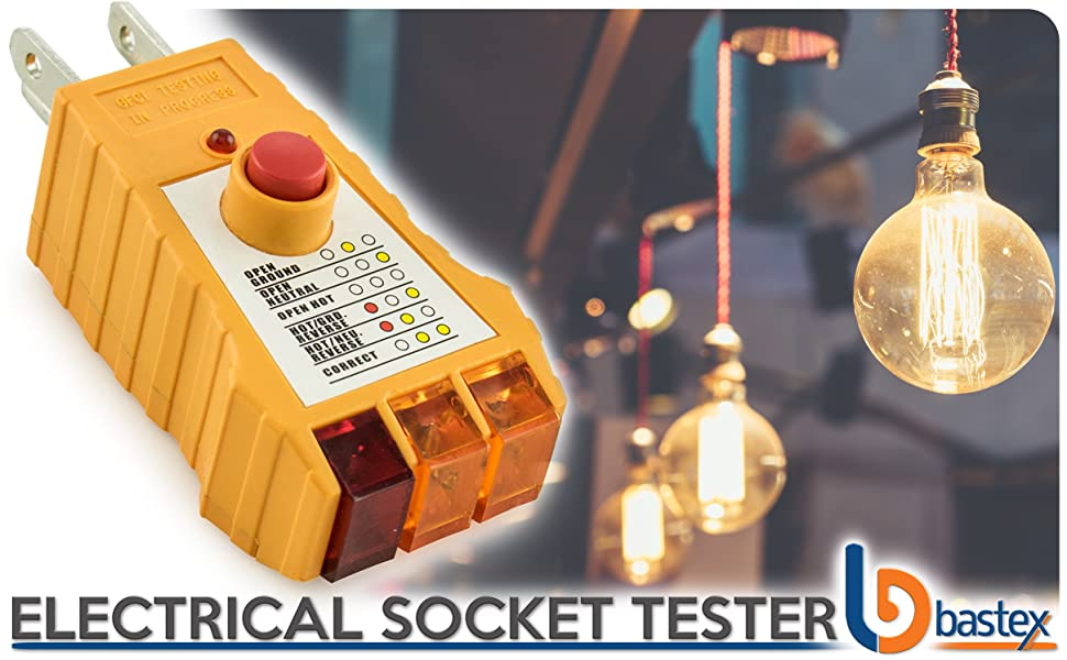 bastex socket tester with gfci check receptacle tester