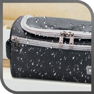 Water resistant toiletry bag