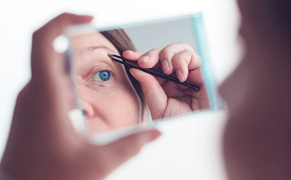 good magnification mirror help little detail on your face zero in on the hairs you want to tweeze