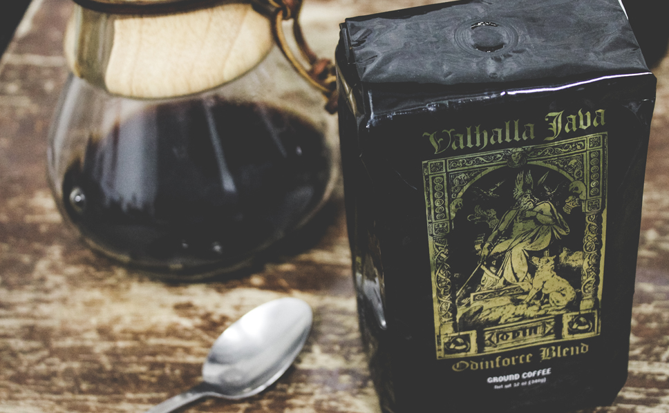 Valhalla Java Ground Coffee by Death Wish Coffee Company, USDA Certified Organic & Fair Trade
