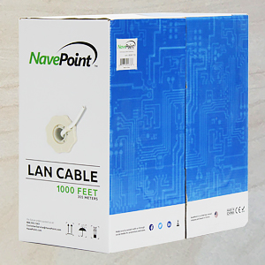 NavePoint Cat6 cable in easy to carry box