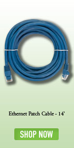 Blue NavePoint CAT5e UTP Ethernet Network RJ45 Snagless Patch Cable 2 Ft