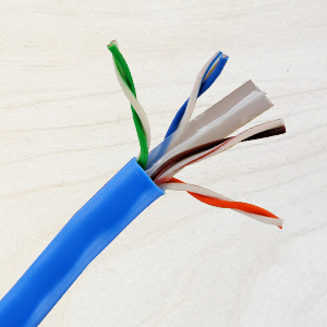 NavePoint Cat6 cable has easy to identify twisted pairs and spline