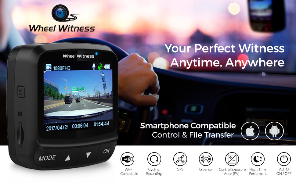 Amazon.com: WheelWitness Dash Cam HD PRO PLUS - w/WiFi
