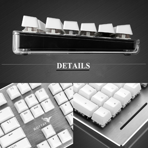 74f4a8a8958 Amazon.com: RGB Mechanical Keyboard, Rottay 16.8 Million RGB Backlit ...