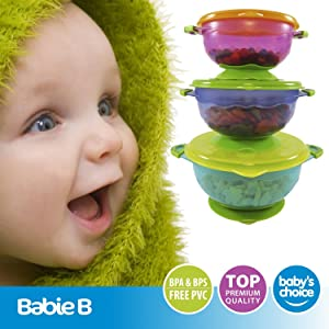 amazon com best suction baby bowls for toddler and 6 months solid