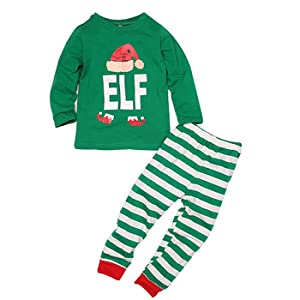 697a2ad340 Family Matching Christmas Pajamas Set Mom Dad Children Sleepwear Kids Adult  Nightwear