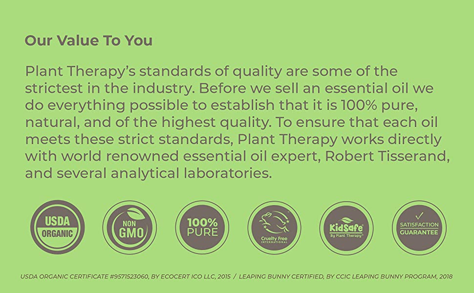 usda organic non gmo 100% pure kid safe plant therapy