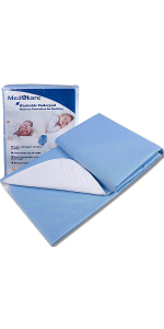10PCS Starwak Disposable Adults Nursing Mats Waterproof Diaper Highly Absorbent Incontinence Pad Care Mattress Bed Pads Underpads Urine Pads Breathable Backsheet Pet Pee Pads,23x36
